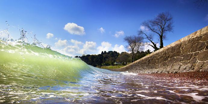 St. Catherine's Shore Break by Andy Le Gresley