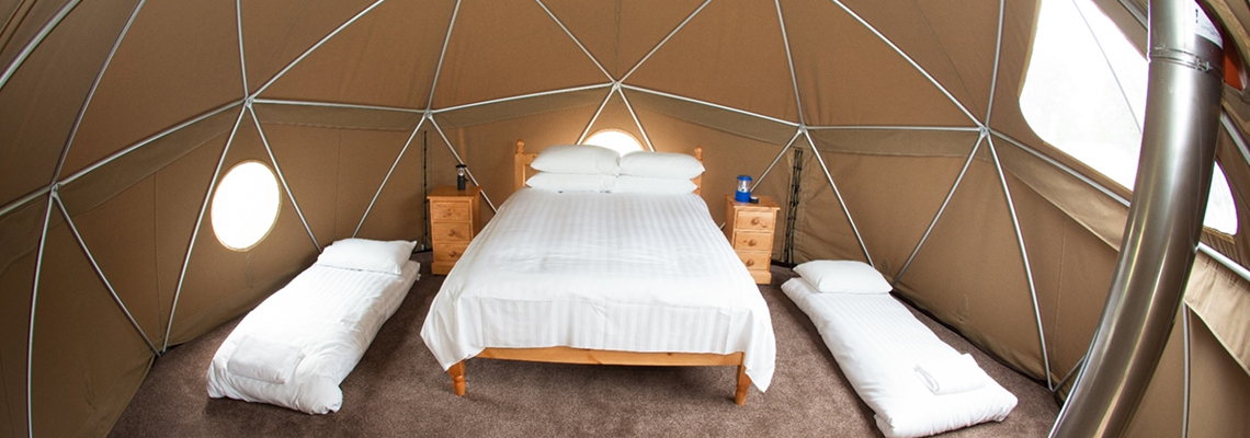 Glamping at Durrell
