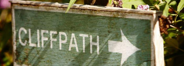 Cliff Path Sign