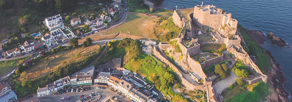 Mont Orgueil Castle Aerial