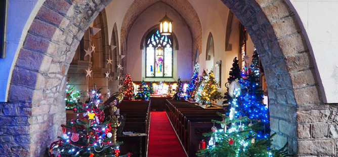 St Peter's Christmas Tree Festival Jersey