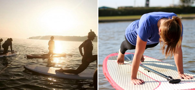 Paddleboard Yoga in Jersey