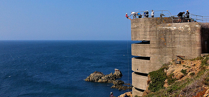 Abseiling in Jersey