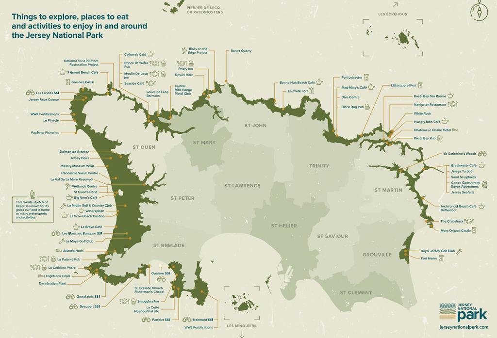 Jersey National Park Map