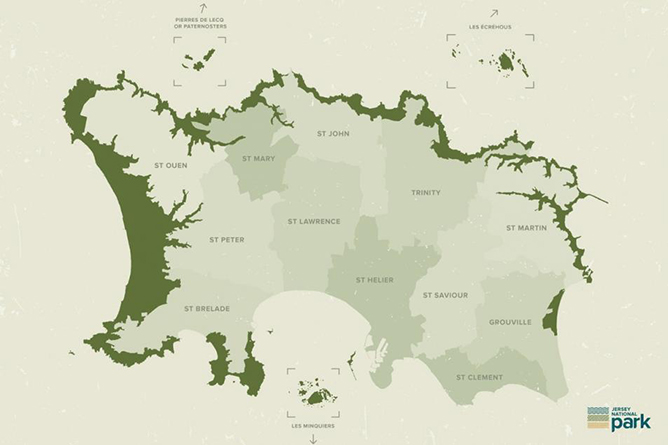 Jersey National Park Map