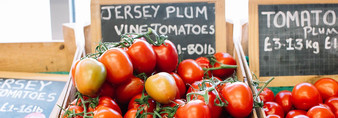 Local vine tomatoes, Jersey