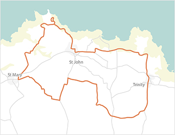 Jersey Cycle Guide Route North A