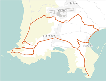 Jersey Cycle Guide Route West B