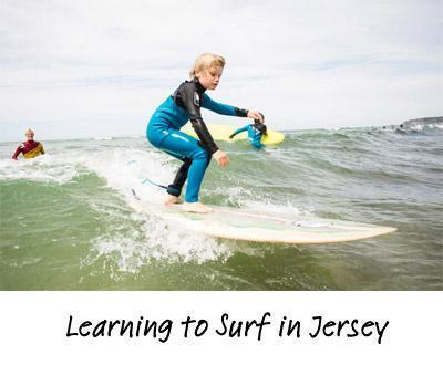 Surfing in Jersey